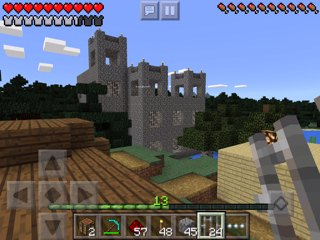 Minecraft PE castle with 4x4 modular design inspired by nether fortress design, front view
