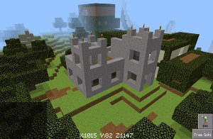 Builder Buddies 4x4 modular castle inspired by Minecraft nether fortress, view 1