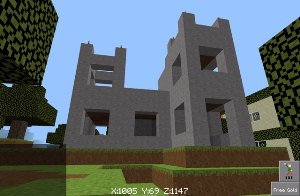 Builder Buddies 4x4 modular castle inspired by Minecraft nether fortress, view 2